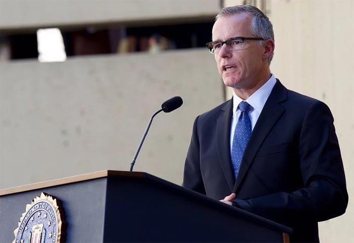 Justice Dept. watchdog sends McCabe findings to federal prosecutors for possible charges