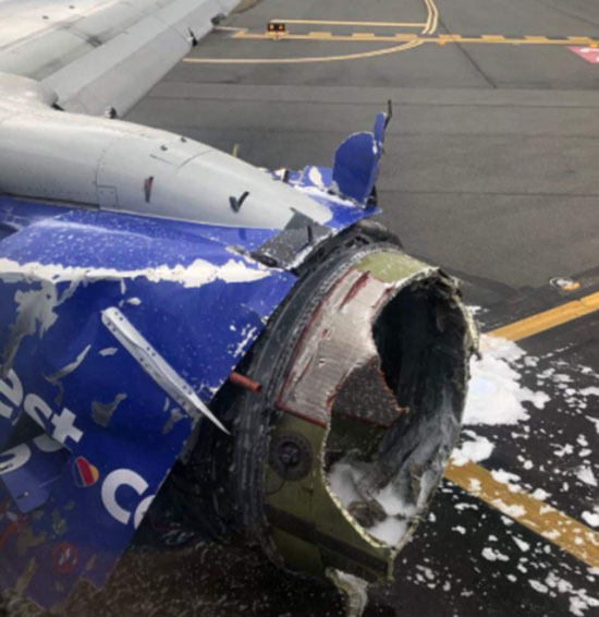 One Dead After Southwest Airlines Jet Engine Explodes