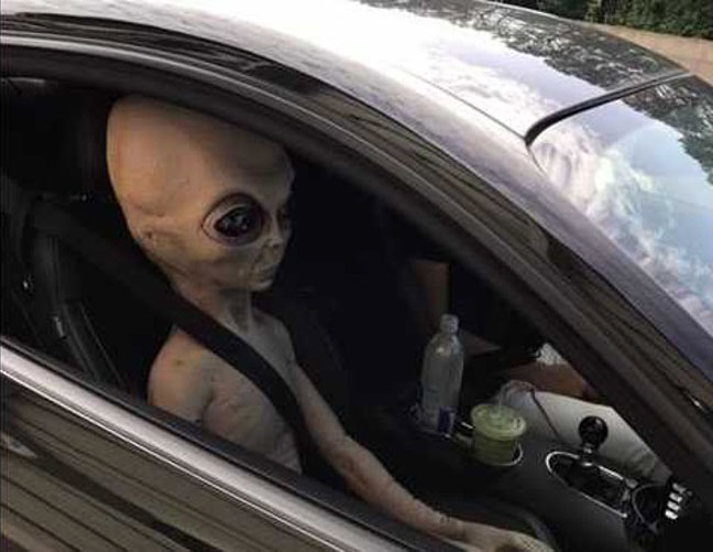 Police: Alien pulled over in Atlanta