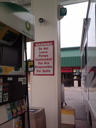 Interesting Sign at a BP Station