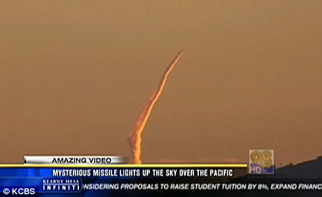 Mysterious missile launched off the California coast... but no one owns up to firing it