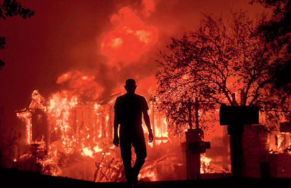Wildfires Burn Out of Control Across Northern California; 15 Are Dead