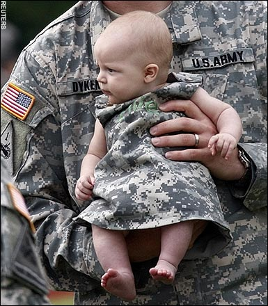 Baby in Camouflage