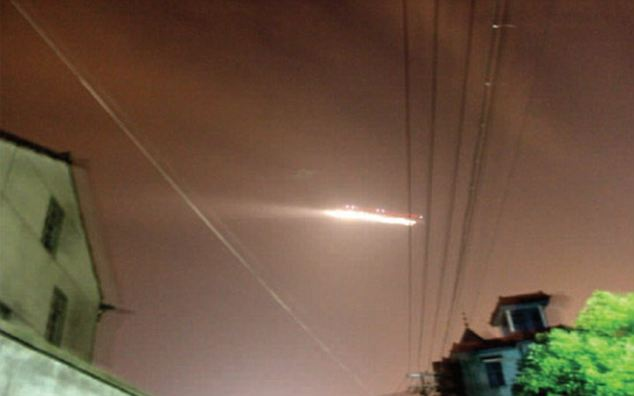 Chinese airport closed after fiery UFO is spotted flying over city