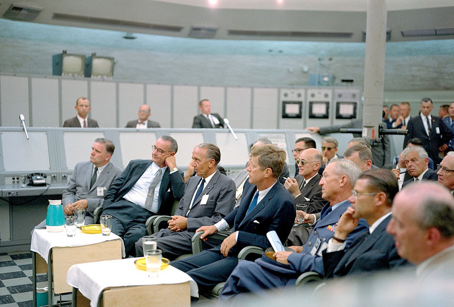 JFK and LBJ during the Cuban Missle Crisis 1962