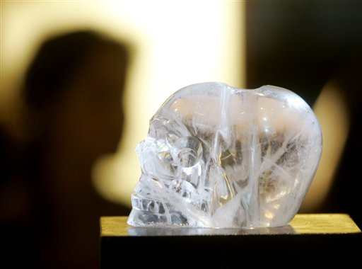 Crystal skull on display in Sedona