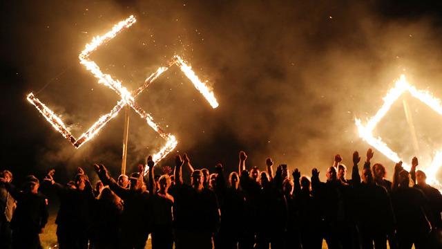 Neo-Nazis hold swastika burning in west Georgia town after Newnan rally