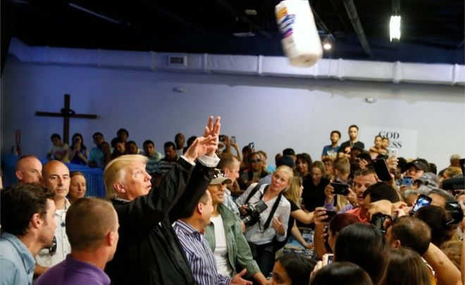 Puerto Rico: Trump paper towel-throwing 'abominable'