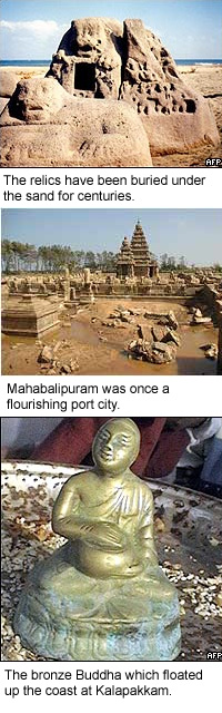 Tsunamis Reveal Ancient Sculptures on Southern Indian Shores