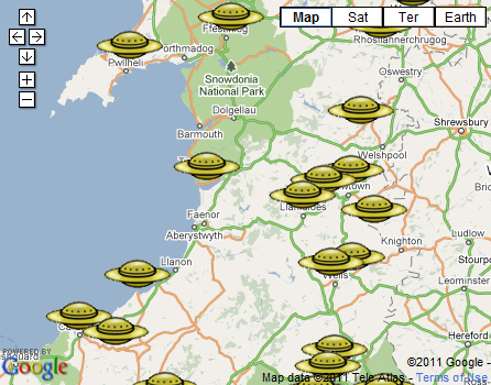 UFOs in Wales: police reveal locations of sightings from past 10 years