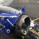 Photo: One Dead After Southwest Airlines Jet Engine Explodes