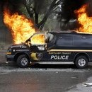 Baltimore Police Van Burns