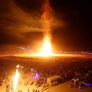 Photo: Man Runs Into Flames at Burning Man Festival