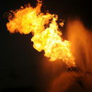 Natural Gas Burning off from the Deepwater Horizon
