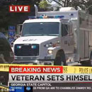 Photo: Air Force Veteran, 58, Protesting Against the VA, Sets Himself on Fire in Atlanta