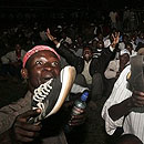 Kenyans Watch the Inaguration