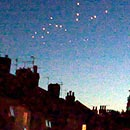 Photo: Mysterious orange UFOs swoop across Britain's skies
