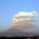 Photo: Volcano spews steam and ash in Mexico